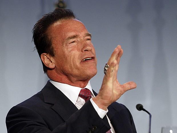 Schwarzenegger propõe forma mais 'sexy' para falar sobre ecologia (Foto: Ronald Zak/AP)