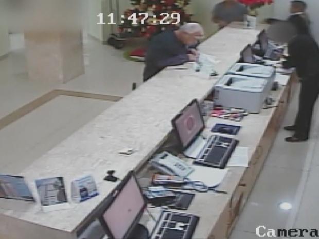 imagens de segurança médico (Foto: Reprodução/ TV Globo)