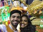 Após susto com carro alegórico da Tijuca, Aline Dias volta à Sapucaí