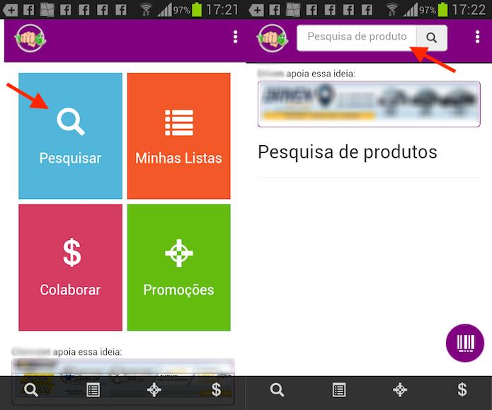 Opção para criar cadastro na app Murrinha que encontra melhores preços de produtos em mercados (Foto: Reprodução/Marvin Costa)