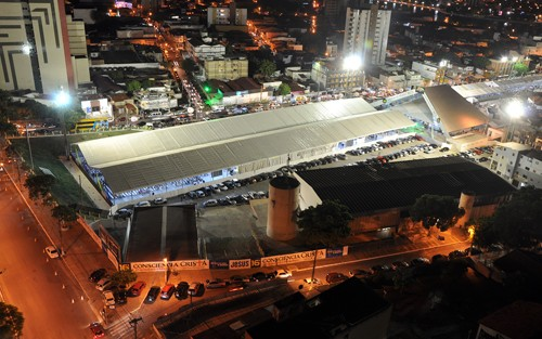 Estrutura montada no Parque do Povo receberá cerca de 100 mil visitantes durante o evento (Foto: Divulgação)