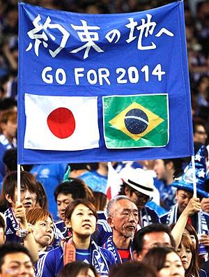 torcida Japão jogo Austrália eliminatórias (Foto: Reuters)