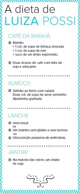 Dieta de Luiza Possi (Foto: EGO)