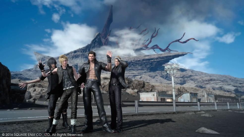 Noctis, Prompto, Gladiolus e Ignis são os herois de 'Final Fantasy XV' (Foto: Reprodução)