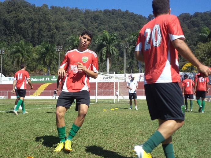 Trio treina visando reabilitação frente ao Valério no domingo  (Foto: Wilkson Tarres / Globoesporte.com)