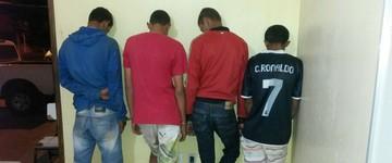 Quatro homens são detidos após furtar comércios (Polícia Militar/Divulgação)