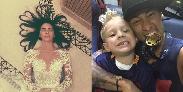 Instagram divulga lista com fotos mais curtidas de 2015; Neymar lidera a lista no Brasil, e Kendall Jenner no mundo (Foto: Reprodução/Instagram)