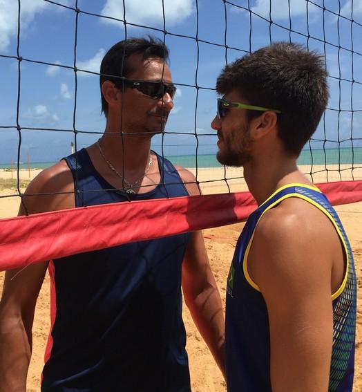 Pai x filho (Lucas Barros / GloboEsporte.com/pb)