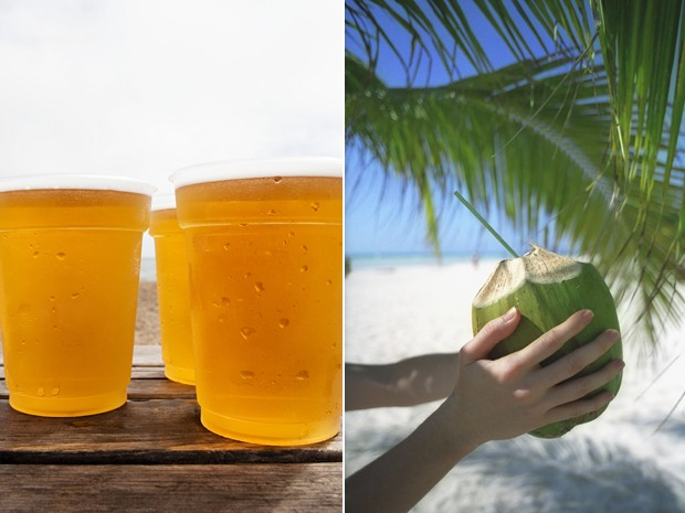 Bebidas praia (Foto: Ward & French/Image Source/Arquivo AFP e Mark Lewis/ TIPS/Photononstop/Arquivo AFP)