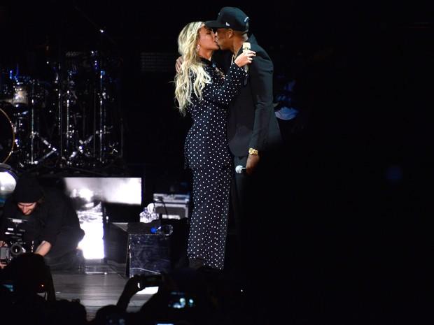 Beyoncé e Jay-Z se apresentam em Cleveland, nos Estados Unidos (Foto: Justin Sullivan/ Getty Images/ AFP)