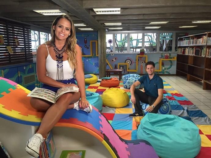 Pedro e Aline apresentam o Mais Caminhos no Sesc Campinas (Foto: reprodução EPTV)