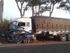 Motorista morre em acidente entre carro e caminhão em Catanduva