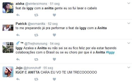 Fãs falam de parceria entre Iggy Azalea e Anitta (Foto: Reprodução/Twitter)