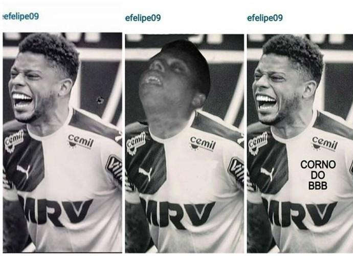 André apaga escudo do Atlético-MG em foto no Instagram e vira piada na internet (Foto: Reprodução/Internet)