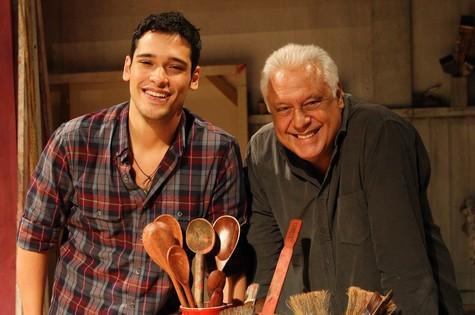 Bruno Fagundes e o pai, Antônio (Foto: TV Globo)