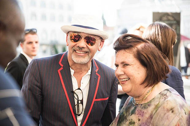 Christian Louboutin with Suzy at the Bike Polo match (Foto: PITTI IMMAGINE)