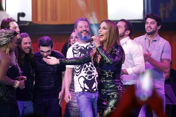 Ex-participantes veem show de Ivete Sangalo (Foto: Raphael Dias/Gshow)