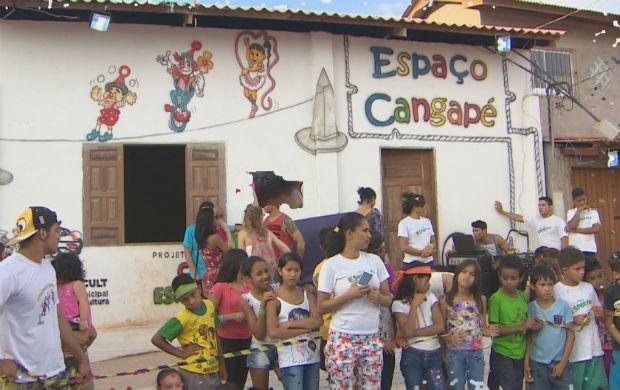 Projeto Cangapé apoiado pelo Criança Esperança (Foto: Reprodução/TV Amapá)