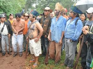 Indígenas têm até sábado para deixar fazenda em Sidrolândia, MS (Foto: Maressa Mendonça / G1 MS)