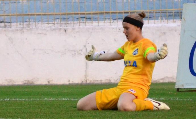 Dani goleira Santos futebol feminino (Foto: Danilo Sardinha/GloboEsporte.com)
