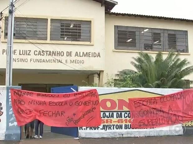 Terceira escola foi ocupada em Bauru (Foto: Reprodução / TV TEM)