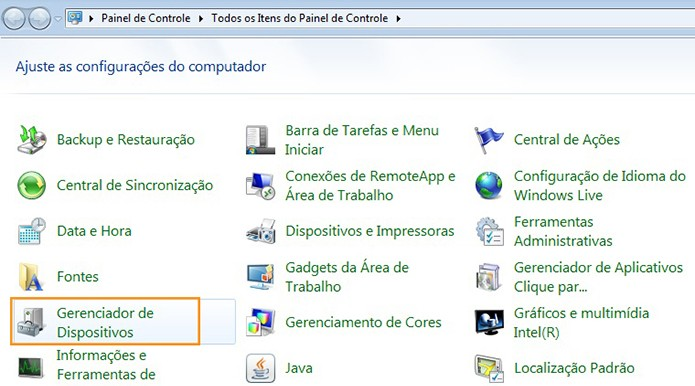 Acesse o Gerenciador de Dispositivos no Windows