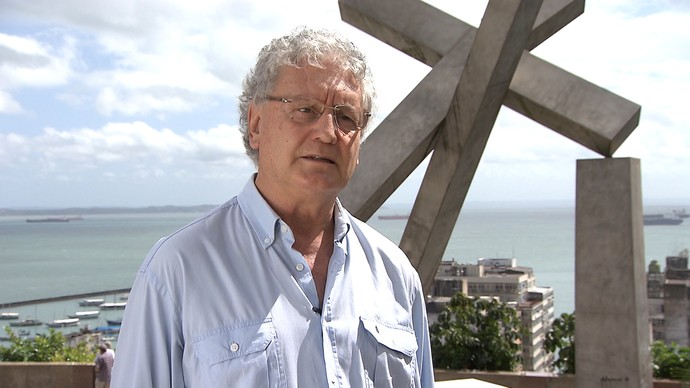 Arqueólogo Carlos Etchevarne fala sobre os sítios arqueológicos de Salvador (Foto: TV Bahia)
