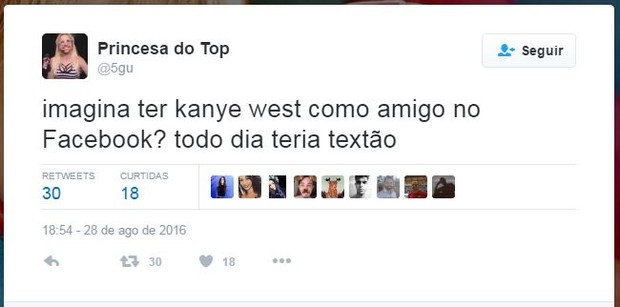 Internautas comentam apresentação de Kanye West no VMA (Foto: Twitter / Reprodução)