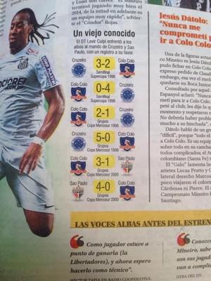 Jornal El Mercurio comenta bom retrospecto de Levir Culpi diante do Colo Colo (Foto: Fernando Martins)