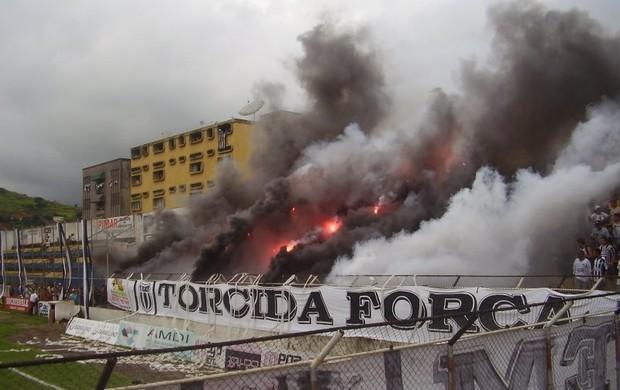 Torcida do Saci irá comparacer no Mamudão, no próximo jogo da equipe contra o Democrata-GV. (Foto: Breno Mendes \ Assessoria do Social)