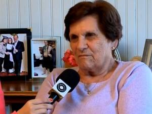 Dona Elsa diz que está feliz com eleição (Foto: Reprodução/RBS TV)