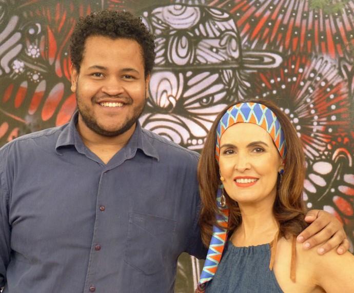 Convidado que participou do 'Encontro' com a apresentadora  (Foto: Vinícius Cunha/Gshow)