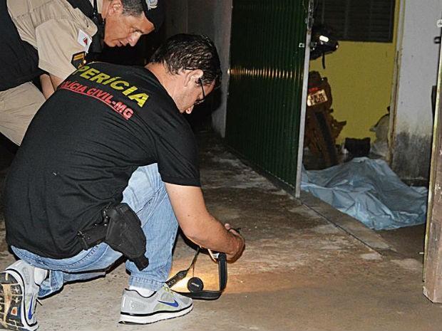 homicídio policia Patos de Minas (Foto: Aislan Henrique/PatosAgora)