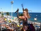 Ivete Sangalo canta na Bahia à véspera de seu desfile no Rio