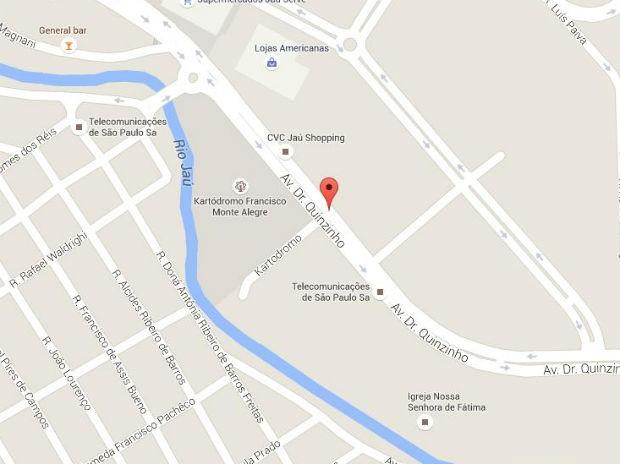 Veja como chegar ao local do Estimacão 2015, em Jaú (Foto: Google Maps)