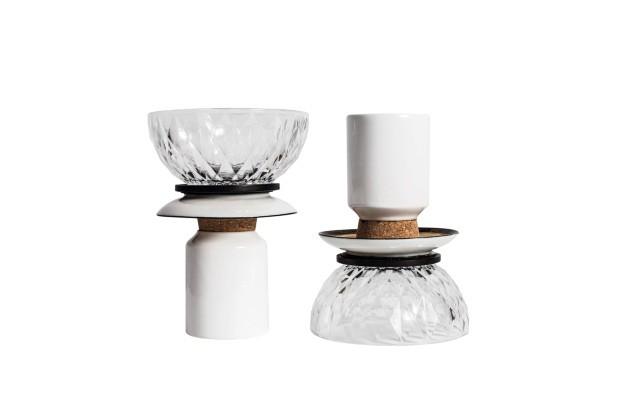 Peças multiúso (vaso, petisqueira ou castiçal), 18 cm de altura, R$ 285 cada uma (Foto: Deco Cury / Editora Globo)