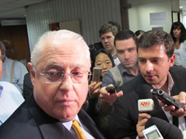 Barros Munhoz na época em que era presidente da Alesp (Foto: Roney Domingos/Arquivo G1 - 19/10/2011)