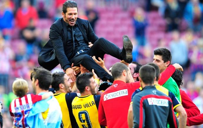 Diego Simeone Barcelona e Atlético de Madrid (Foto  Agência AP ) e445ea53f2b54