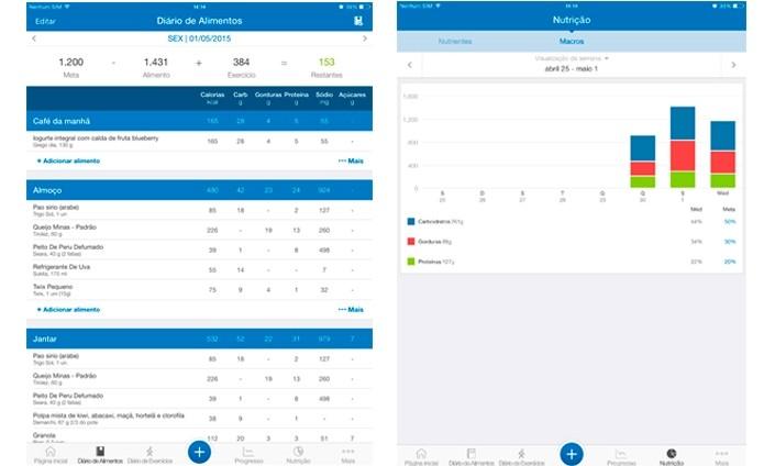 MyFitnessPal ajuda a controlar a dieta calculando as calorias dos alimentos (Foto: Reprodução/Lívia Dâmaso)