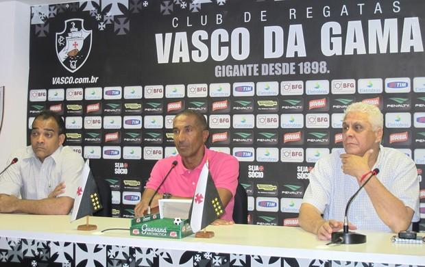 Daniel Freitas, Cristóvão e Dinamite, Vasco da gama (Foto: André Casado / Globoesporte.com)