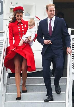 [Galeria] Príncipe William e Kate Middleton com o filho, George, em Wellington, na Nova Zelândia (Foto: Getty Images/Agência)