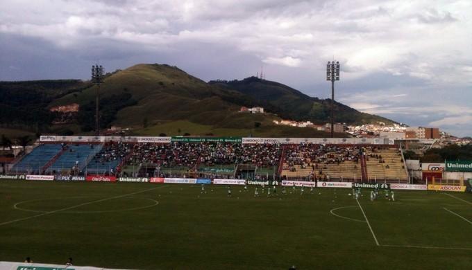 Estádio Ronaldão, em Poços de Caldas (Foto: Wanderson Araújo)