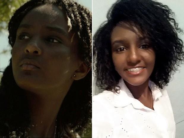 Débora Nascimento antes e depois (Foto: TV Globo e Arquivo pessoal)
