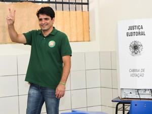 Candidato Marcelo Lelis vota em Palmas (Foto: divulgação/campanha)