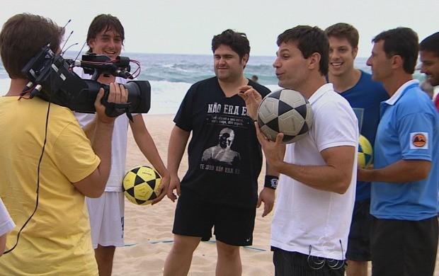 Equipe da TV Amazonas acompanhou uma das gravações do Medida Certa (Foto: Bom Dia Amazônia)