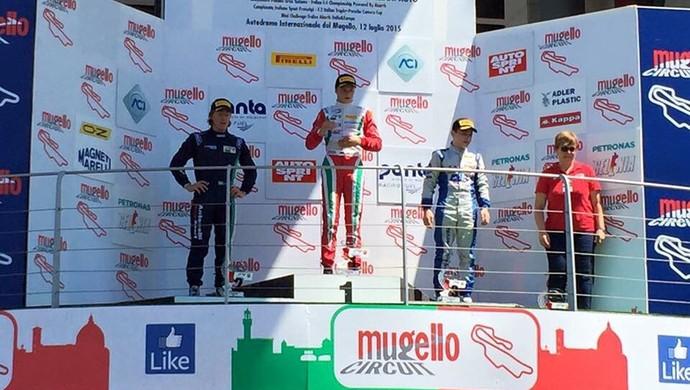 João Vieira fica em segundo (à esq.) na primeira prova da etapa de Mungello (Foto: Italian Championship/ Divulgação)