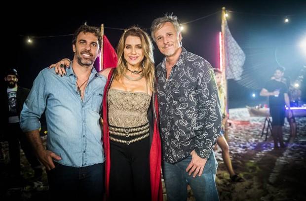 Marcelo Faria, Letícia Spiller e Marcello Novaes (Foto: João Miguel Junior / TV Globo)