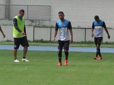 Cidinho treino Botafogo (Foto: Gustavo Rotstein)
