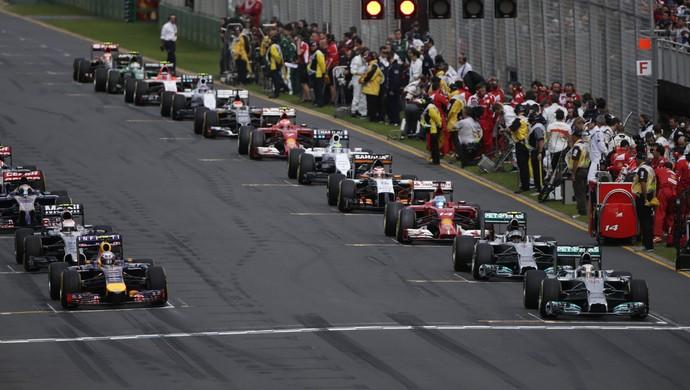 Largada GP da Austrália de 2014 (Foto: Getty Images)