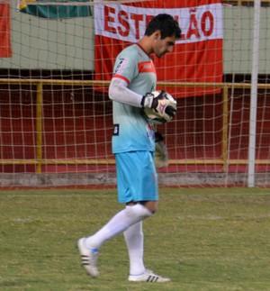 Ricardo Vilar, goleiro do Rio Branco (Foto: Nathacha Albuquerque)
